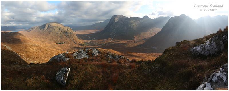 Glencoe panorama from Stob Mhic Mhartuin
