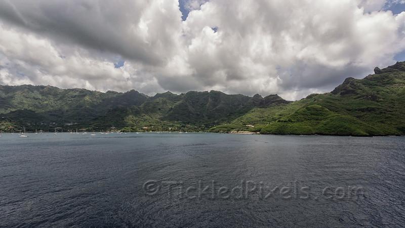 Nuku Hiva from Taioha'e Bay