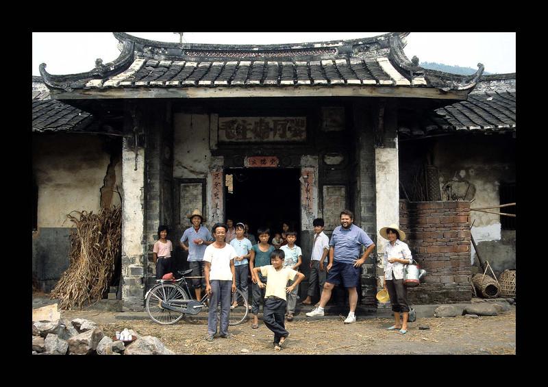Jim at Fujian Village Gate, China 1992.jpg