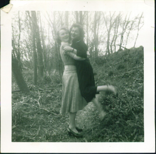 Lydia Bondar and Ingeborg Schroeder - about 1953-4, Peru, Indiana