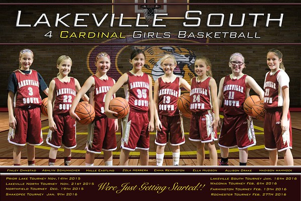 Cougars 4 Cardinals Girls Basketball 2015