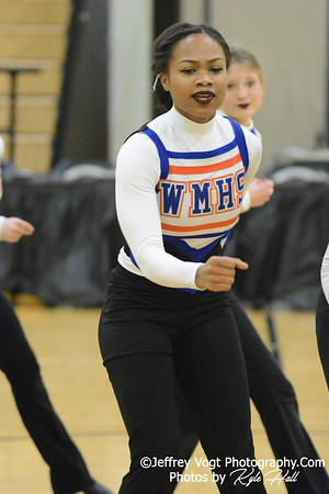 1-09-2016 Watkins Mill HS Varsity Poms at Northwest HS, Photos by Jeffrey Vogt Photography with Kyle Hall