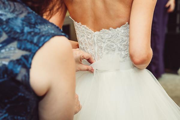 [bride] getting ready