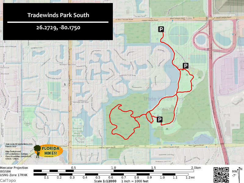 Tradewinds Park Trail Map