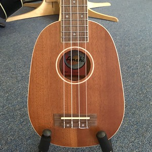 Amahi Soprano Pineapple Ukulele with white binding