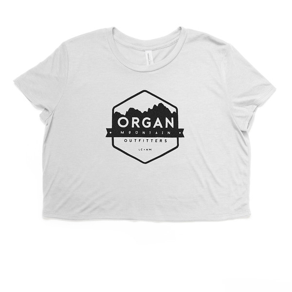 Organ Mountain Outfitters - Outdoor Apparel - Womens T-Shirt - Classic Flowy Cropped Tee - White.jpg
