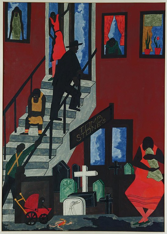 "Jacob Lawrence, ""Tombstones"" 1942"