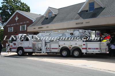 North Babylon Fire Company Tower Ladder 1-8-6 Wetdown @ H.Q. on Hale Rd. 8-10-13