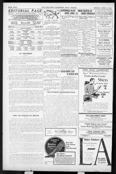 Daily Trojan, Vol. 17, No. 121, April 12, 1926