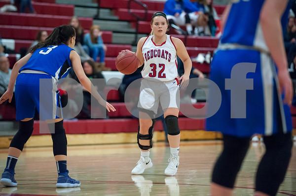 01/22/18 Wesley Bunnell | Staff Southington vs Berlin girls basketball at Berlin High School on Monday evening. Alana Garofalo (32).