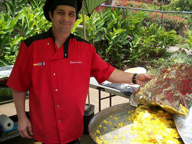 """Alex Montero - Boheme Bleu Catering -   Vegetarian Paella  Alex is a """"Culinary Artist"""" specializing in Paellas, Tapas & Grille & what a Paella he makes!!  He had an AWESOME Paella & the rice was SOOO GOOD (if you know me, you KNOW I do NOT like rice but this was one of the tastiest I've EVER had!!)  8-881-5808 / http://BohemeBleu.com / Alex.Montero@BohemeBleu.com  https://Facebook.com/pages/Boh%C3%A8me-Bleu/97667603035"""