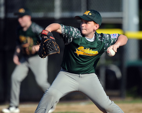 8/6/2018 Mike Orazzi   Staff Middletown New Jersey Little League's Reid Tully (3) at Breen Field in Bristol during the 2018 Little League Eastern Regional Tournament.