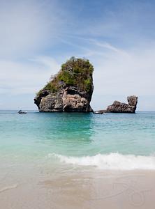 Limestone sea stacks. Koh Phi Phi, Thailand.