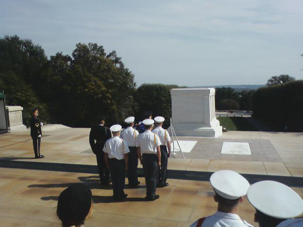 Cadets visit Tomb of Unknown Soldier
