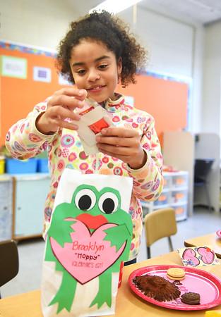 Celebrating Valentine's Day at Oakwood Elementary