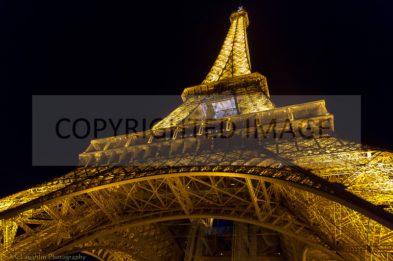 The Eiffel Tower, Illuminated, Just Before the Sparkles