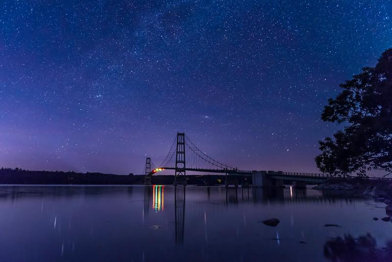 Deer Isle Bridge Airglow and Stars.jpg