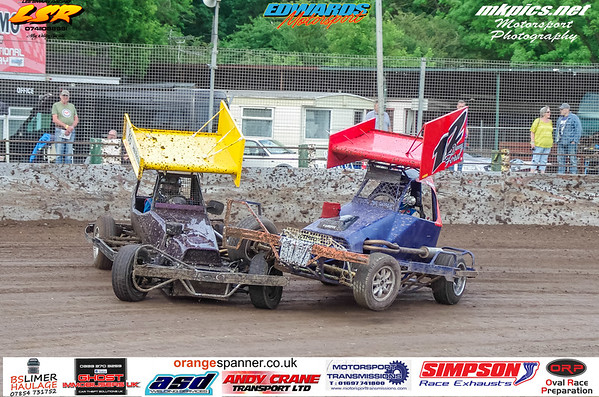 BriSCA F2 Stockcars. Northampton 1 June 2019