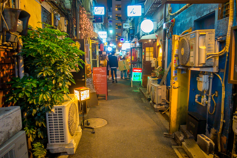 Golden Gai in the evening