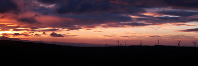 Windfarm over Makara at Sunset