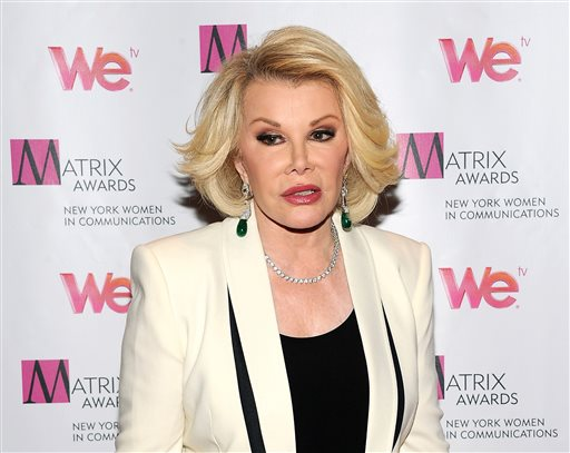 """. 12. (tie) JOAN RIVERS  <p> �Tranny?�   <p><b><a href=\'http://www.nydailynews.com/entertainment/gossip/joan-rivers-calls-obama-gay-lady-tranny-article-1.1855378\' target=\""""_blank\""""> LINK </a></b> <p>   (Evan Agostini/Invision/AP)"""