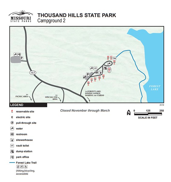 Thousand Hills State Park (Campground #2)