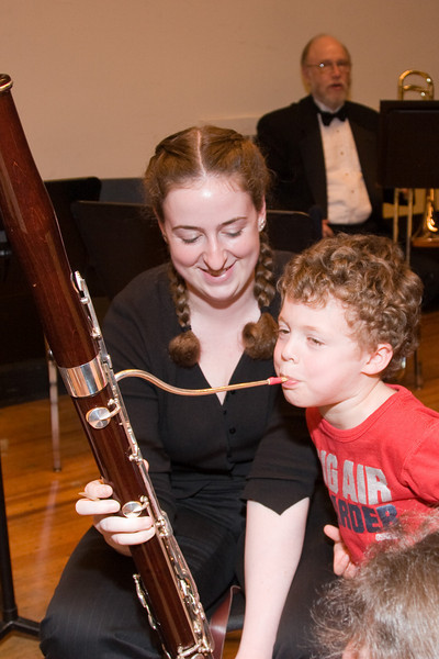 Katie FitzGibbon, bassoon, with Rafael F. -- Hopkins Symphony Orchestra, March 2008