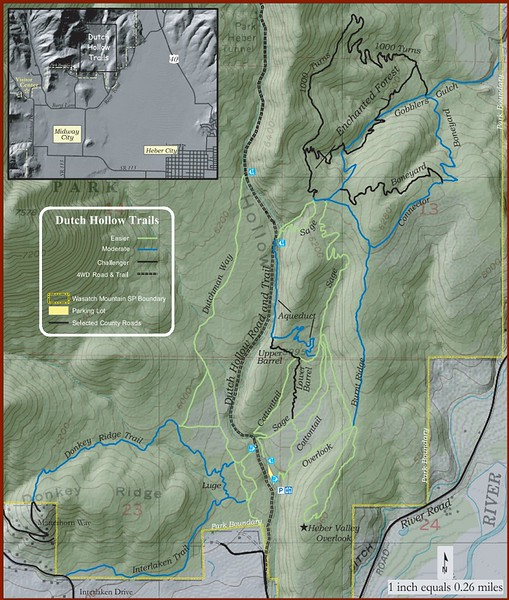 Wasatch Mountain State Park (Dutch Hollow Area Trail Map)