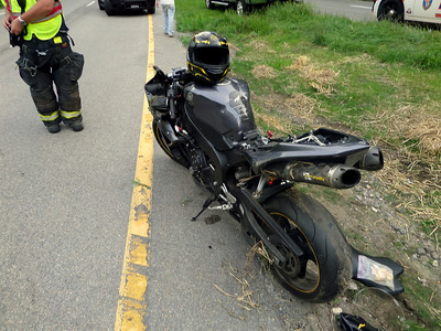 Motorcycle Accident, Albany Post Rd.