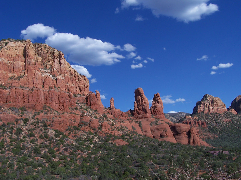 Red rocks of Sedona from Chapel of the Holy Cross overlook.