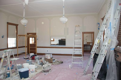 Community House Hall and Kitchen Painting