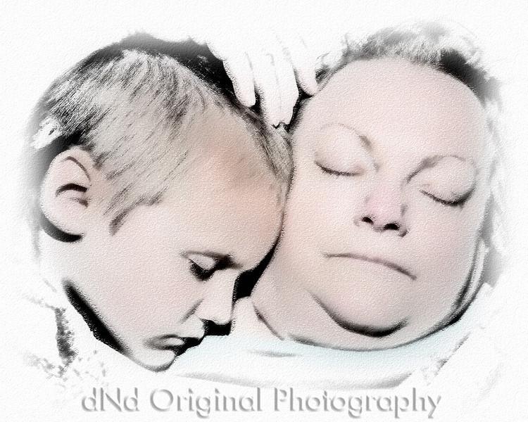 14 Ian Spends The Night May 2010 - Sleeping With Grandma Debi (10x8 softfocus) sketch1.jpg
