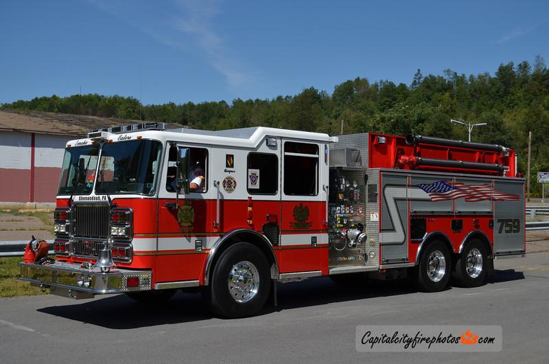 Shenandoah (Polish American Fire Co. No. 4) Engine Tanker 759: 2007 Seagrave Marauder II 1500/2000
