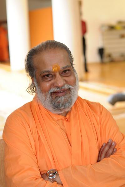 Swami Purushottamanandaji at Chinmaya Mission's Aacharya Conference, July 2008 held at Chinmaya Vibhooti Vision Centre, Kolwan (near Lonavala/Pune), Maharashtra, India.