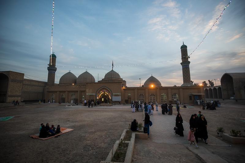 Al Sahaabi Salman Al Farsi Shrine at dusk in Salman Pak, Baghdad Governate.