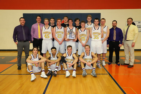 Basketball Boys District Champions vs Hackett - KCHS - 3/9/18