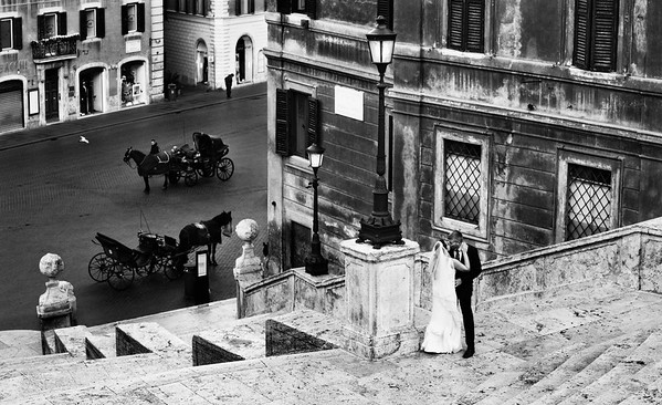 Rome Italy Wedding Photographs at the Spanish Steps