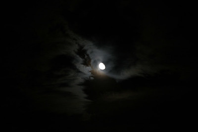 2006-08-13 - the moon and clouds
