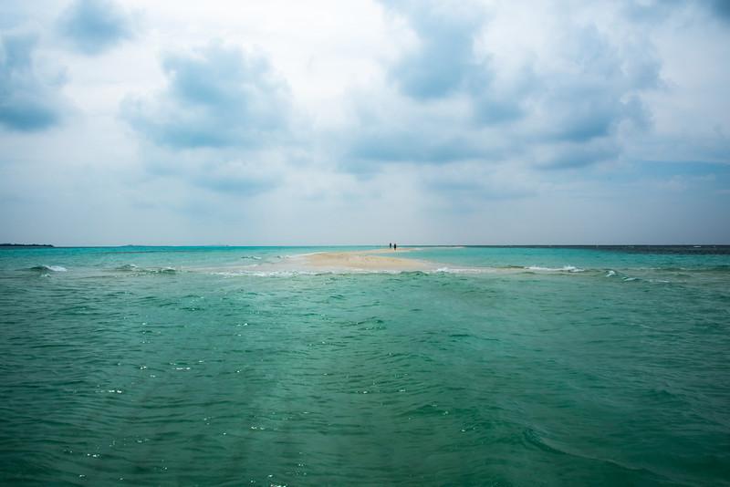 On a deserted  island  - Maldive Islands