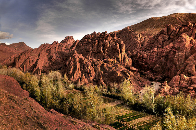 The Dades Gorge.