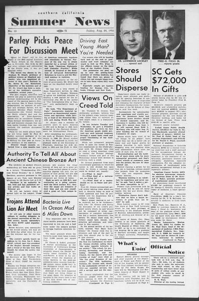 Summer News, Vol. 6, No. 18, August 24, 1951