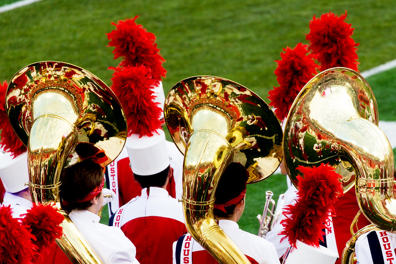 How the tubas reflect upon the game.