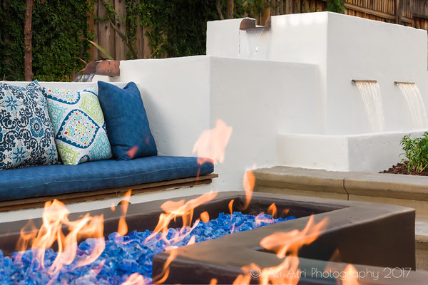 Willow Glen Patio and fire fountain