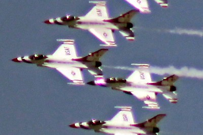 US Air Force Thunderbirds Salute Over San Diego