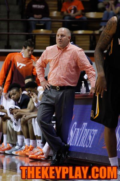 Virginia Tech head coach Buzz Williams looks on during a break in play. (Mark Umansky/TheKeyPlay.com)