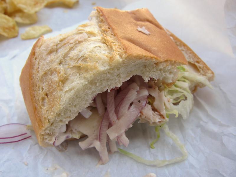 My turkey sandwich on sourdough bread. Mmmmmmm.