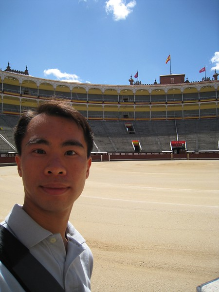 JC at Bullfighting ring