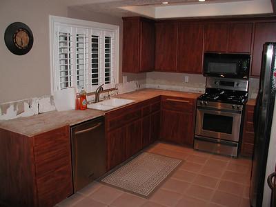 Kitchen going in.