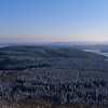 View from Eifel mountain Hohe Acht in winter