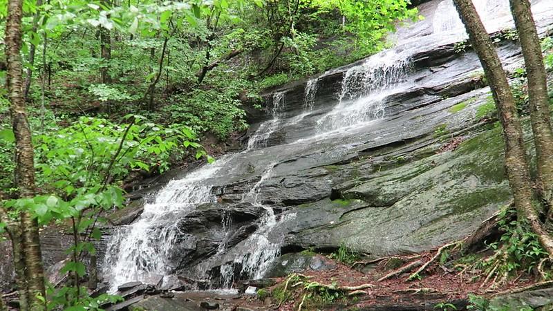 Lower Waterfall (Waterfall #1) on Barnett Branch Trail -- 3,480'